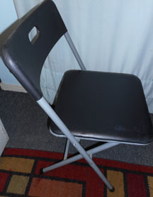 Black Padded Folding Chair