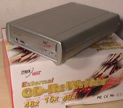 Cyberdrive External CD Burner INV#136