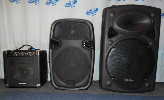 Portable PA System Size Comparison
