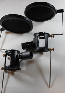 Shock Mounts with Pop Filters